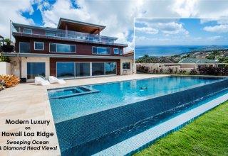 Photo of Modern Hawaii Loa Ridge Luxury with Ocean & Diamond Head Views