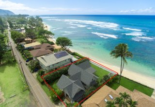 Photo of Beachfront Retreat in Private Waialua location on Oahu's North Shore