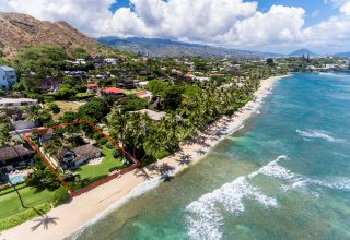 Diamond Head Beachfront - 85ft of Sandy Beach Frontage