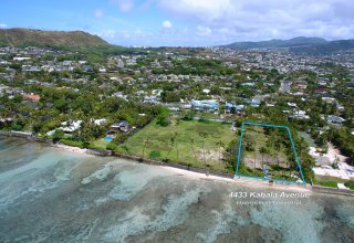 Oceanfront 41,000+SF Lot on Kahala Avenue