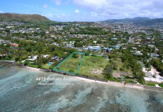 Oceanfront 37,000+SF Lot on Kahala Avenue