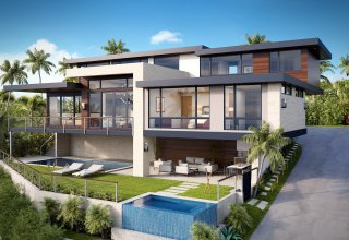 Photo of New Ocean View Custom Diamond Head Luxury Home by Pyramid Premier Properties